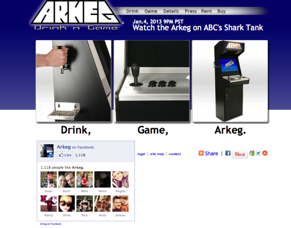 The Arkeg Drink n Game Console