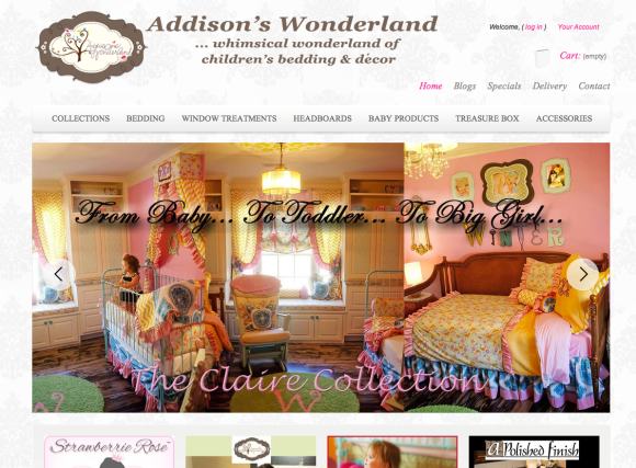 Addison's Wonderland Designer Kid Sheets